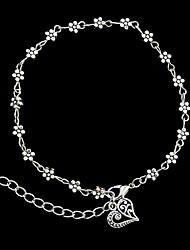 cheap -Beach Style Silver Color Metal Flower Charms Anklets Christmas Gifts