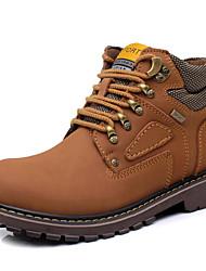 Herren Stiefel Stiefeletten Modische Stiefel Leder Frühling Sommer Herbst Winter Normal Stiefeletten Modische Stiefel SchnürsenkelFlacher