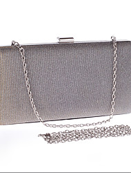 preiswerte -Damen Taschen Glitzer Abendtasche für Hochzeit Veranstaltung / Fest Formal Ganzjährig Champagner Schwarz Silber Pink-violett Gelb-grau