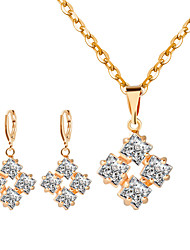 cheap -Women's Necklace/Earrings Personalized Fashion Wedding Party Rhinestone Alloy Earrings Necklaces
