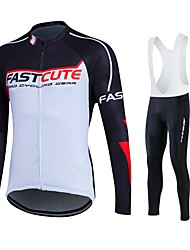 Fastcute Maglia da ciclismo Per uomo Unisex Manica lunga Bicicletta Maglietta Felpa Tuta da ginnastica Giacche in pile / Fleece