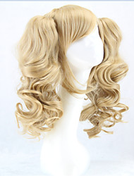 cheap -HOT Long Lolita Wig Ponytails Heat Resistant Wavy Synthetic Wigs Curly Blonde 2  Ponytail Anime Wig