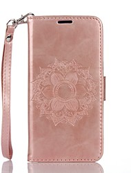 cheap -Mandala Embossed Leather Wallet for Samsung Galaxy Core Prime Grand Prime
