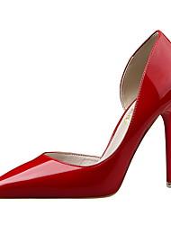 Damen-High Heels-Kleid-Kunstleder-Stöckelabsatz-Absätze / Spitzschuh / Geschlossene Zehe-Schwarz / Blau / Gelb / Rosa / Rot / Weiß /
