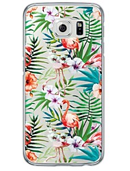 cheap -Flamingos Tile Pattern Soft Ultra-thin TPU Back Cover For Samsung GalaxyS7 edge/S7/S6 edge/S6 edge plus/S6/S5/S4