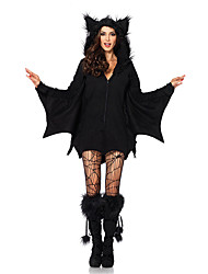 abordables -Vampire Costume de Cosplay Costume de Soirée Bal Masqué Femme Halloween Fête / Célébration Tenue Noir Couleur Pleine
