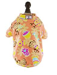abordables -Chat Chien Tee-shirt Pyjamas Vêtements pour Chien Bande dessinée Bleu de minuit Gris Rouge Bleu Rose Coton Costume Pour les animaux