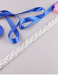 cheap -Satin Wedding Party / Evening Dailywear Sash With Beading Imitation Pearl Women's Sashes