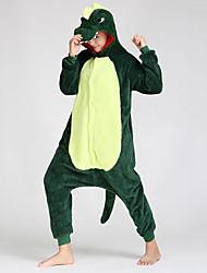 Недорогие -Универсальные Пижамы, С животными принтами Толстая Смесь хлопка Флис Зеленый Розовый