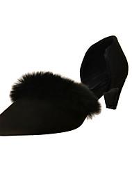 cheap -Women's Heels Fall / Winter D'Orsay & Two-Piece / Pointed Toe PU /  Dress / Casual Kitten Heel  Black / Beige