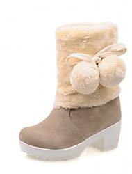 baratos -Mulheres Sapatos Sintético / Couro Envernizado / Courino Outono / Inverno Inovador / Botas Cowboy / Country / Curta / Ankle Saltos / Laço