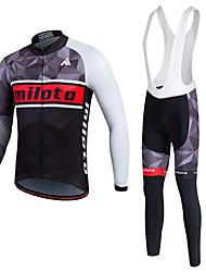Miloto Maglia da ciclismo Per uomo Unisex Manica lunga Bicicletta Giacca di pelle Maglietta Felpa Tuta da ginnastica Giacche in pile /