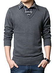 cheap -Men's Wool Pullover - Plaid