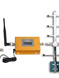 Недорогие -ЖК-дисплей gsm980 мини 900MHz GSM сигнала мобильного телефона Усилитель 900MHz сигнала ретранслятора Яги антенна с кабелем длиной 10 м