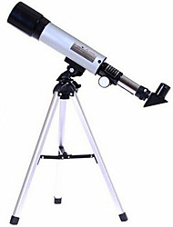 cheap -Phoenix F36050 50mmTelescopes Altazimuth 48 1-5X H20mm-H6mm Anascope Astronomical Optcal Glass Metal Tube Telescope With Two Eyepiece Lens