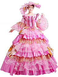 cheap -Victorian Rococo Costume Women's Party Costume Masquerade Vintage Cosplay Lace Cotton