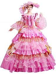 economico -Vittoriano Rococò Costume Per donna Vestiti Stile Carnevale di Venezia Vestito da Serata Elegante Vintage Cosplay Pizzo Cotone Lungo