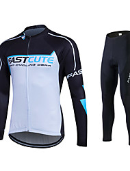 Fastcute Cycling Jersey with Tights Men's Women's Unisex Long Sleeves Bike Pants/Trousers/Overtrousers Tracksuit Jersey Tights Clothing