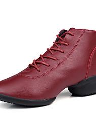 Non personalizzabile Da donna Sneakers da danza moderna Finta pelle Ballerine Tacchi Da allenamento Esibizione Con balze Con ruche Basso
