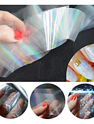 cheap -1pcs/pack New Transparent Nail Foils Starry Sky Glitter Nail Art Transfer Sticker Paper (4cmX120cm each piece)