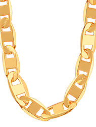 Недорогие -Муж. Жен. Фигаро Цепь Ожерелья-цепочки - Позолота Мода Золотой Ожерелье Бижутерия Назначение Для вечеринок, Повседневные, Спорт
