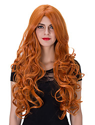 cheap -Synthetic Wig Red Women's Capless Carnival Wig Halloween Wig Capless Wig Very Long Synthetic Hair