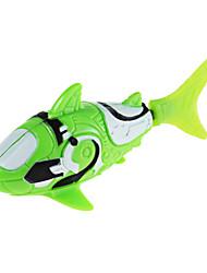 Недорогие -Robo рыба акула стиль электронный рыба игрушка - зеленый + белый (2 х LR44)