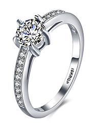 cheap -Band Rings Platinum Sterling Silver Zircon Cubic Zirconia 18K gold Fashion Vintage Personalized Hypoallergenic Silver JewelryWedding