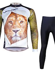 ILPALADINO Maglia con pantaloni da ciclismo Per uomo Manica lunga Bicicletta Set di vestiti Asciugatura rapida Resistente ai raggi UV