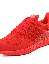 preiswerte -Unisex Schuhe Tüll Frühling Herbst Leuchtende Sohlen Komfort Sneakers Walking Schnürsenkel für Sportlich Normal Draussen Schwarz Rot