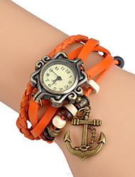 Women's Fashion Watch Wrist watch Bracelet Watch Quartz / Punk Leather Band Vintage Bohemian Charm Bangle Casual Black White Blue Red