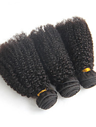Brazilian Virgin Hair Kinky Curly 3pcs  6A dark African American Short Hair Styles Brazilian Curly Hair