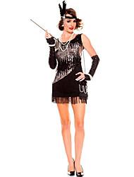 Reine Conte de Fée Costumes de Cosplay Costume de Soirée Féminin Halloween Carnaval Fête / Célébration Déguisement d'Halloween Noir