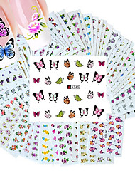 50PCS Different Styles Fashion Flowers pattern Nail Art Water Transfer Stickers