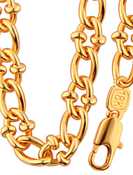 cheap -Celebrity Fashion Jewelry Round Design 18K Gold Plated Big Chain Necklace Bracelet For Men High Quality Gift NB60090
