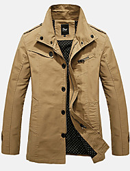 cheap -Autumn and winter in the long section of the new cotton washed jacket casual jacket lapel
