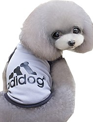 preiswerte -Katze Hund T-shirt Hundekleidung Lässig/Alltäglich Sport Buchstabe & Nummer Grau Blau Rosa Kostüm Für Haustiere