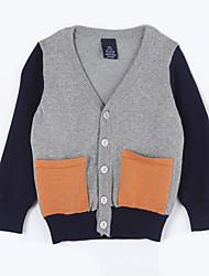 povoljno -Pamuk Color block Dnevno Jesen Džemper i kardigan Sive boje