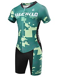 cheap -Malciklo Cycling Jersey with Shorts Men's Short Sleeves Bike Triathlon/Tri Suit Compression Clothing Clothing Suits Quick Dry Front