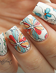 2 Patterns/Sheet Cute Flower Nail Art Water Decals Transfer Sticker BORN PRETTY BP-W17