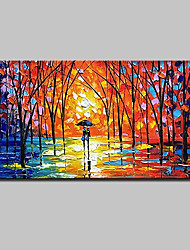 Large Size Hand Painted Modern Abstract Knife Landscape Oil Painting On Canvas With Stretched Frame Ready To Hang