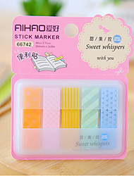 cheap -Box Package 5-Color Self-stick Note Set