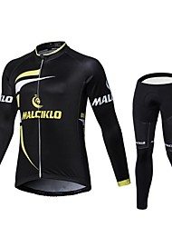 cheap -2017 Winter MALCIKLO Fleece Long Sleeve Cycling Jerseys Winter Outdoors O-Neck Mtb Cycling Clothing