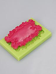 Espejo rectangular moldes de silicona pastel de chocolate fondant herramientas de decoracion handmade soap mold color aleatorio