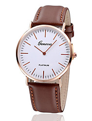 cheap -Women's Fashion Watch Quartz Casual Watch Leather Band Vintage Minimalist Black Brown