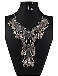 abordables -Mujer Conjunto de joyas - Vintage, Europeo, Moda Incluir Collar / pendientes Blanco / Negro Para Boda / Fiesta / Diario / Pendientes / Collare