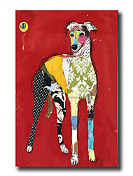 Modern Wall Art Oil Painting Abstract Lovely Dog Pictures Hand Painted On Canvas With Stretched Frame