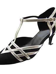 Damer Latin Moderne Velouriseret Sandaler Hæle Professionel Indendørs Spænde Udhulning Personligt tilpassede hæle Sort Personligt