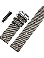 abordables -Noir / Blanc / Vert / Bleu / Marron / Gris / Orange Nylon Bracelet Sport Pour Suunto Regarder 24mm