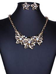 cheap -Women's Jewelry Set - Vintage, European, Fashion Include Necklace / Earrings Black / Purple / Blue For Wedding / Party / Daily